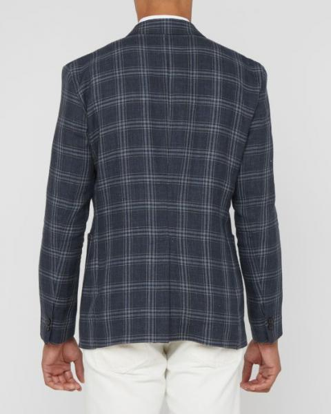 THE ARCHIE NAVY/GREY PLAID SPORTCOAT