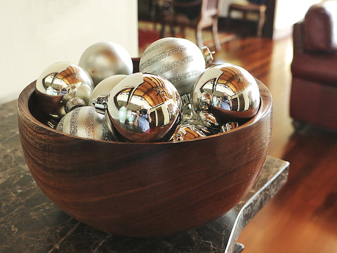 Koa Bowl with Ornaments
