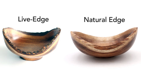 Live and Natural Edge Koa Bowl