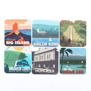 Set of 6 Big Island Coasters