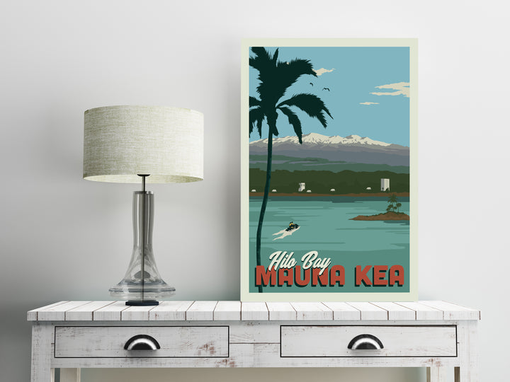 Hawaii's Hilo Bay 12 x 18 Poster