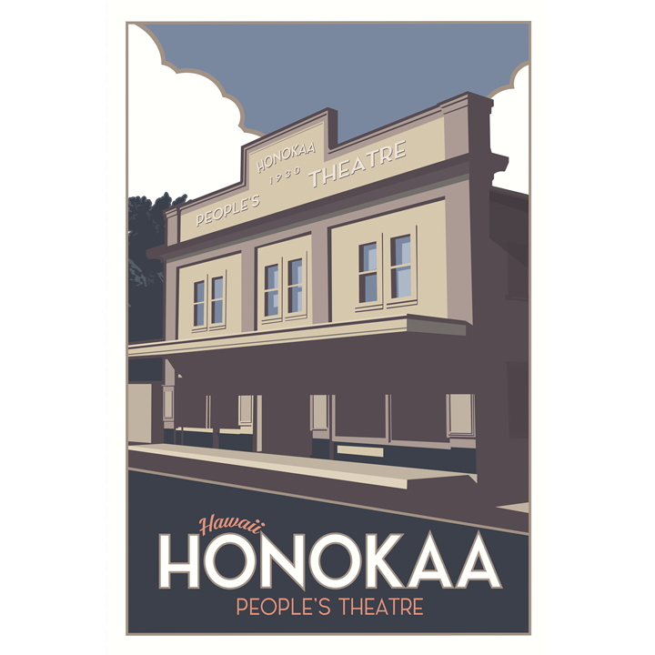 Hawaii's Town of Honokaa 4 x 6 Postcard