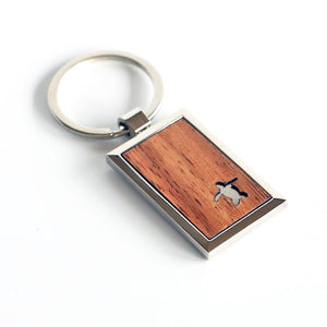 Honu Koa Wood Key Chain