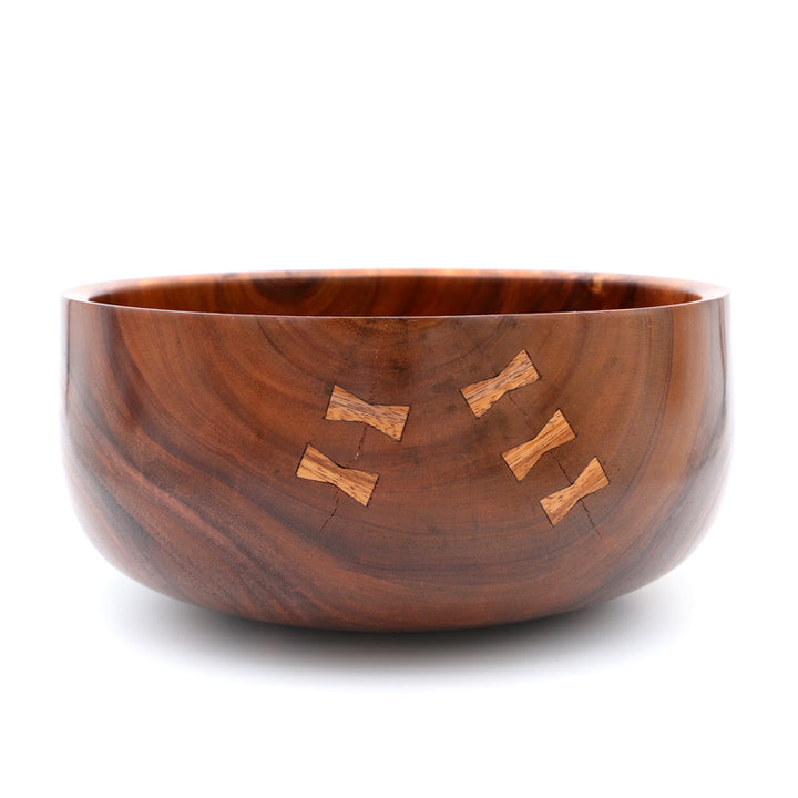Traditional Hawaiian Koa Calabash Wood Bowl #715 - Large