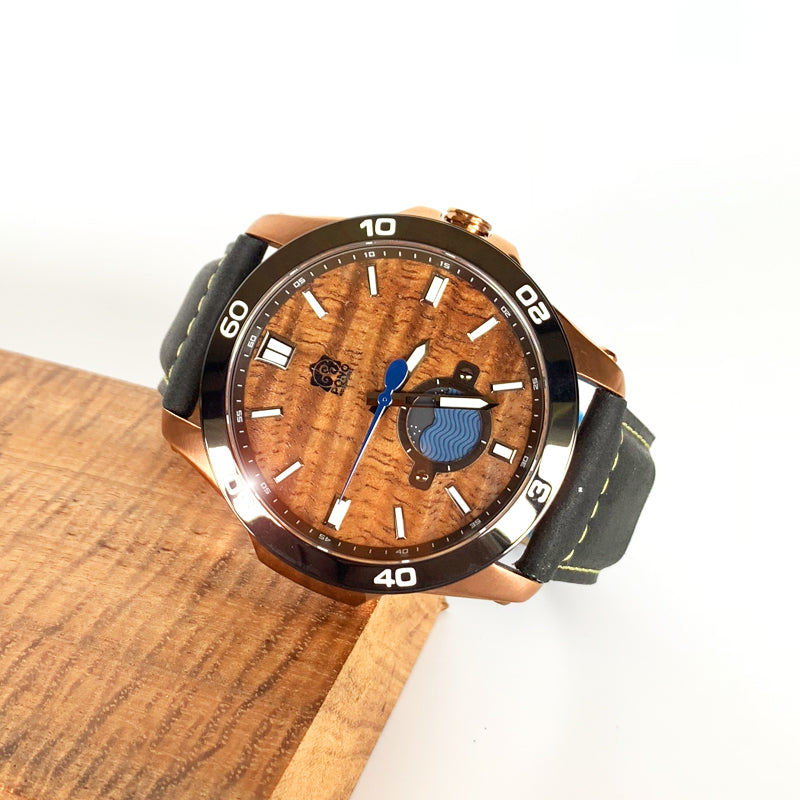 47mm Castaway Copper with Tan or Black Leather or Navy Silicone Band