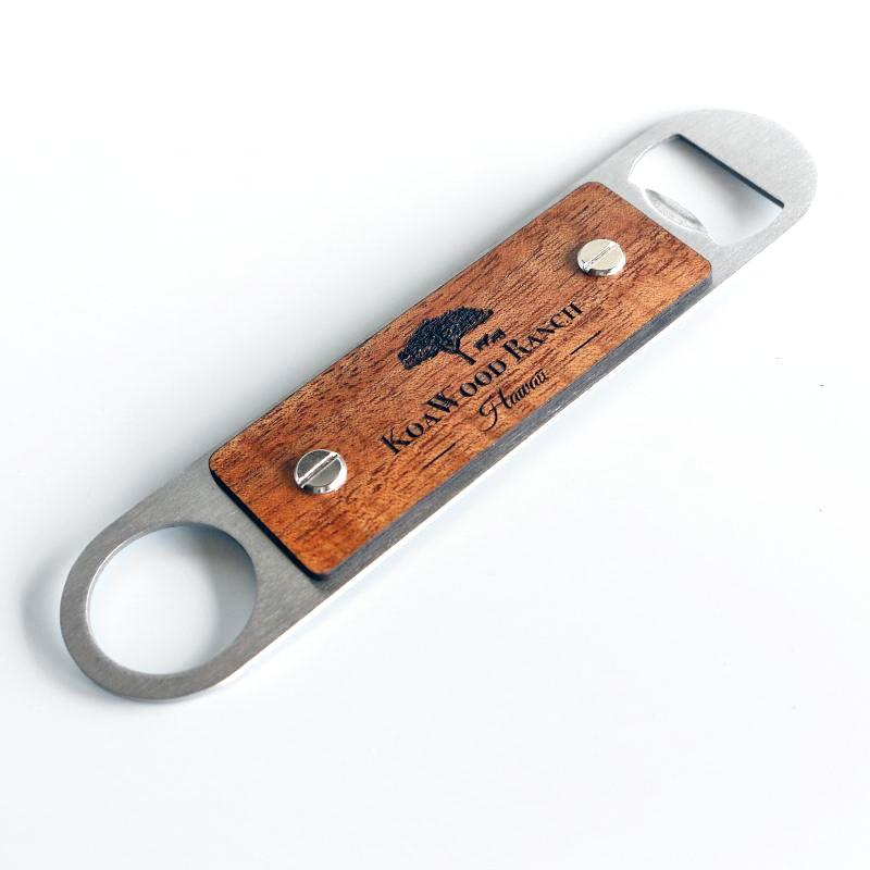 Hawaii Island Chain Koa and Stainless Steel Bottle Opener