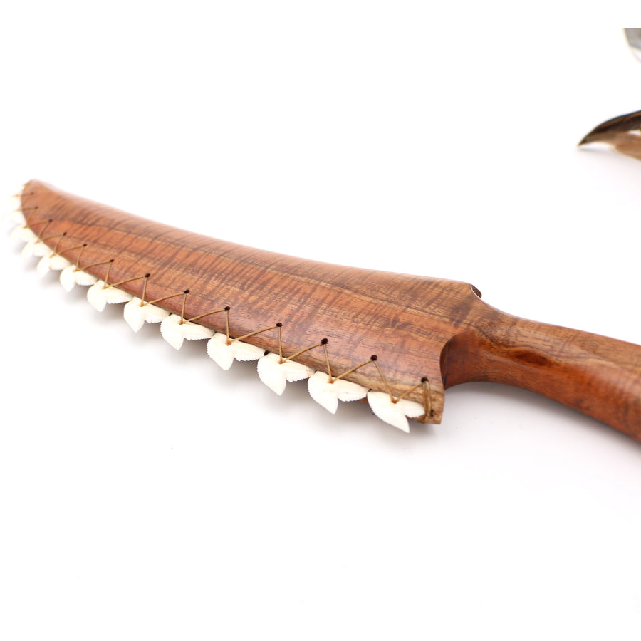 "Curly Koa Wood ""Pahoa"" - Hawaiian Style Knife"