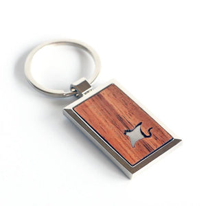 Manta Ray Koa Key Chain