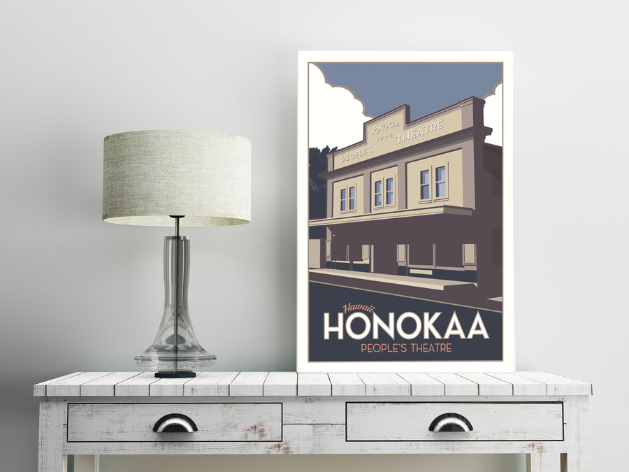 Hawaii's Honokaa 12 x 18 Poster