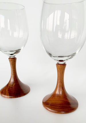 Koa Stem Wine Glasses