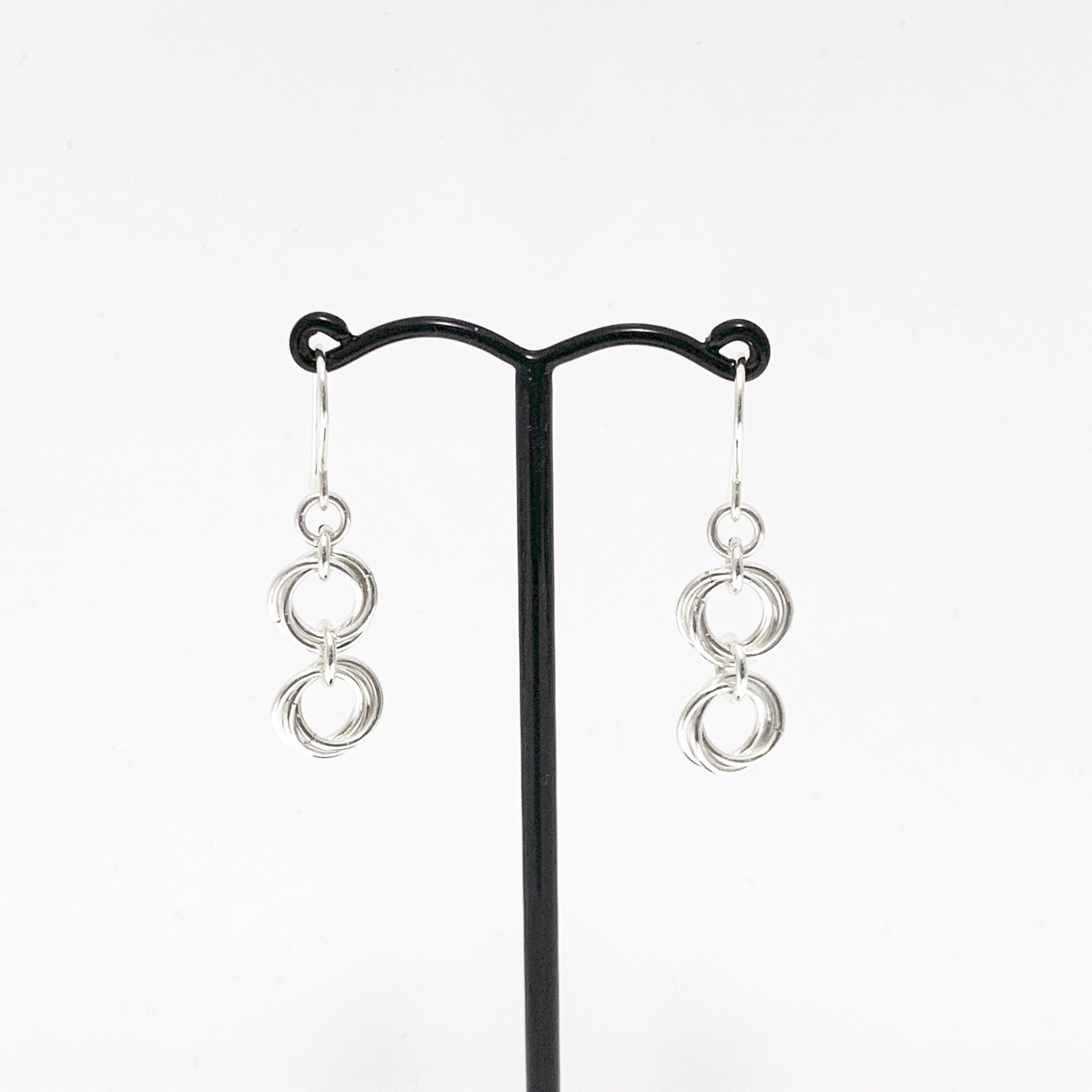 'Ava' 2 Silver earrings