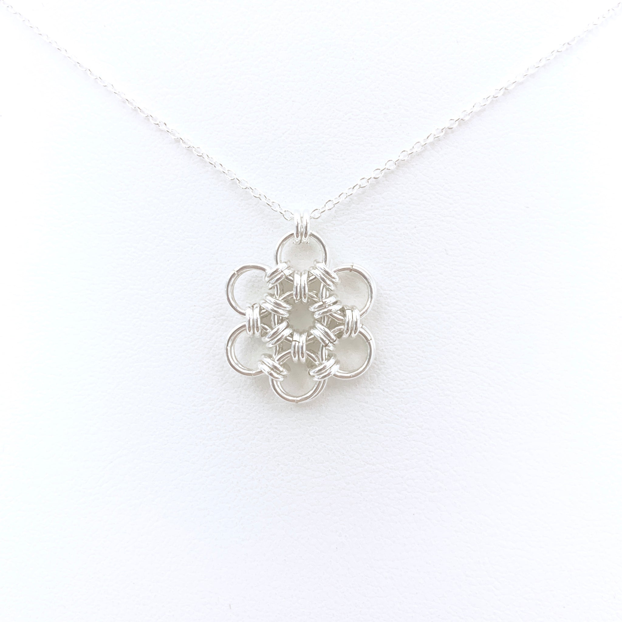 'Rose' Silver pendant necklace