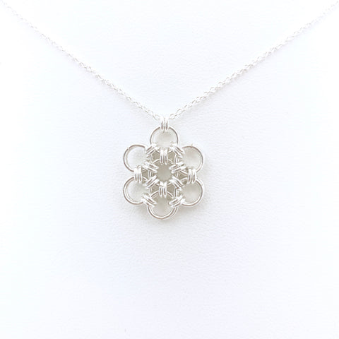 Japanese Flower Pendant necklace