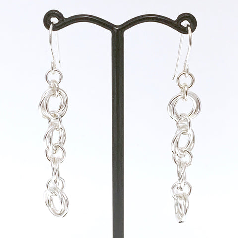 'Ava' 4 Silver earrings