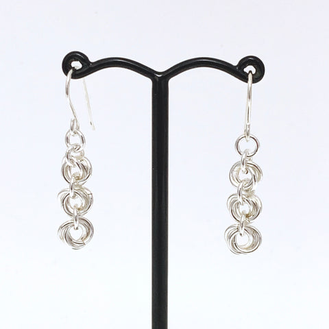 'Bella' 3 Silver earrings