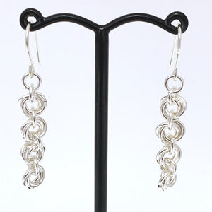 'Bella' 4 Silver earrings