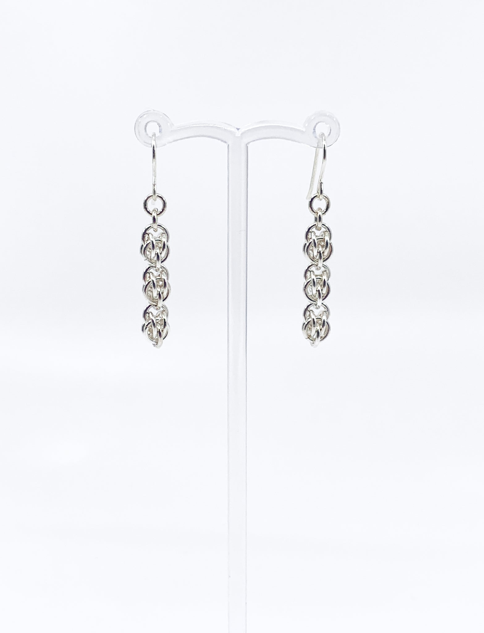 'Chloe' 3 Silver earrings