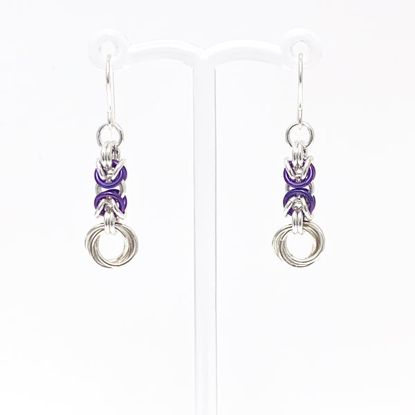 'Olivia' Blueberry & Silver earrings