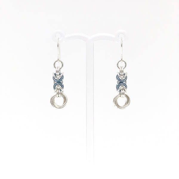 'Olivia' Faded Jeans & Silver earrings