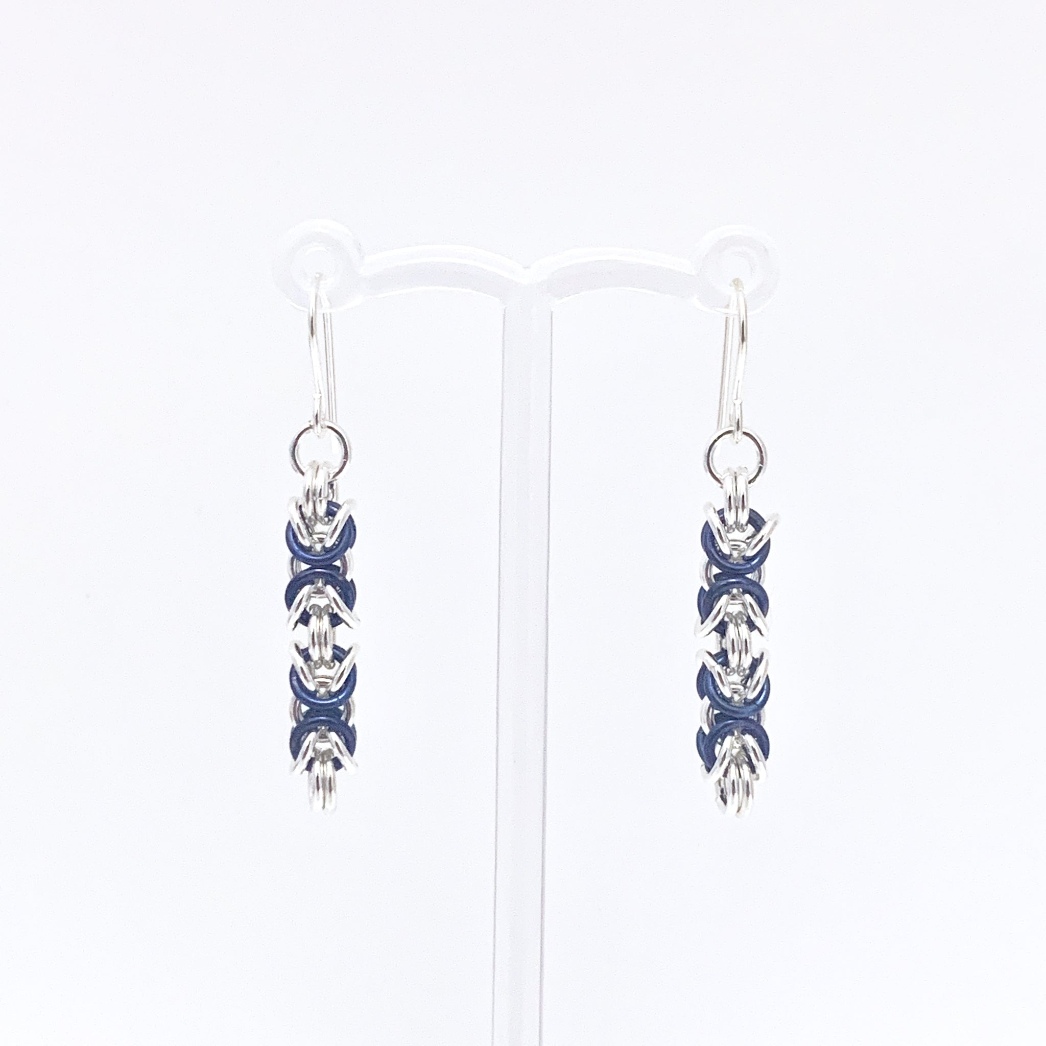 'Piper' Dark Blue & Silver earrings (limited)