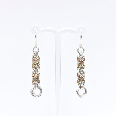 'Grace' Mustard & Silver earrings (limited)