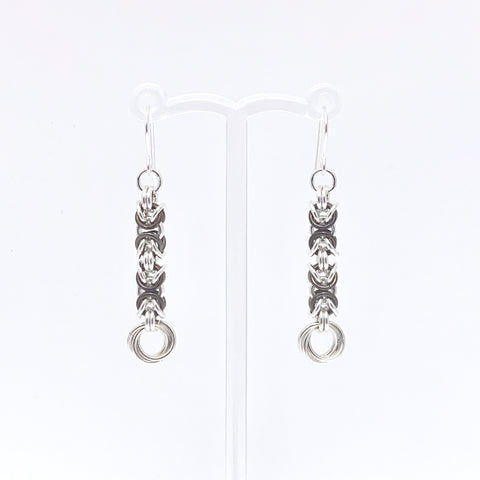 'Grace' Chocolate Brown & Silver earrings (limited)