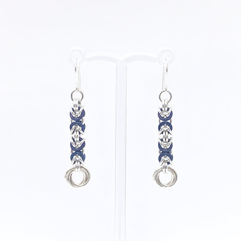 'Grace' Dark Blue & Silver earrings (limited)