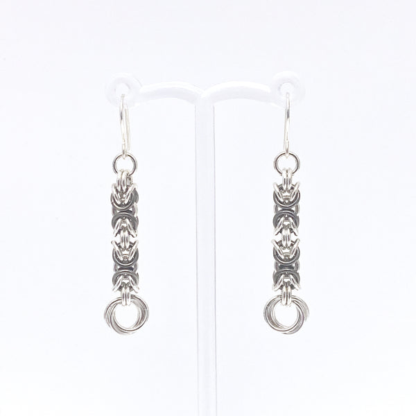 'Grace' Fawn & Silver earrings (limited)