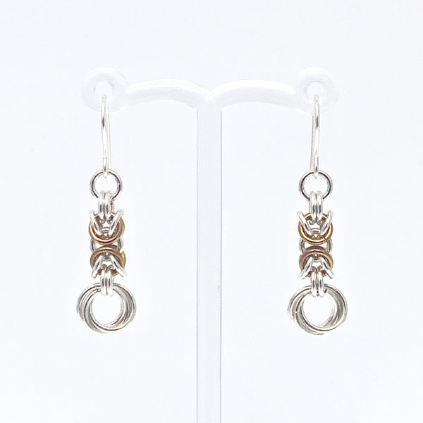 'Olivia' Mustard & Silver earrings (limited)