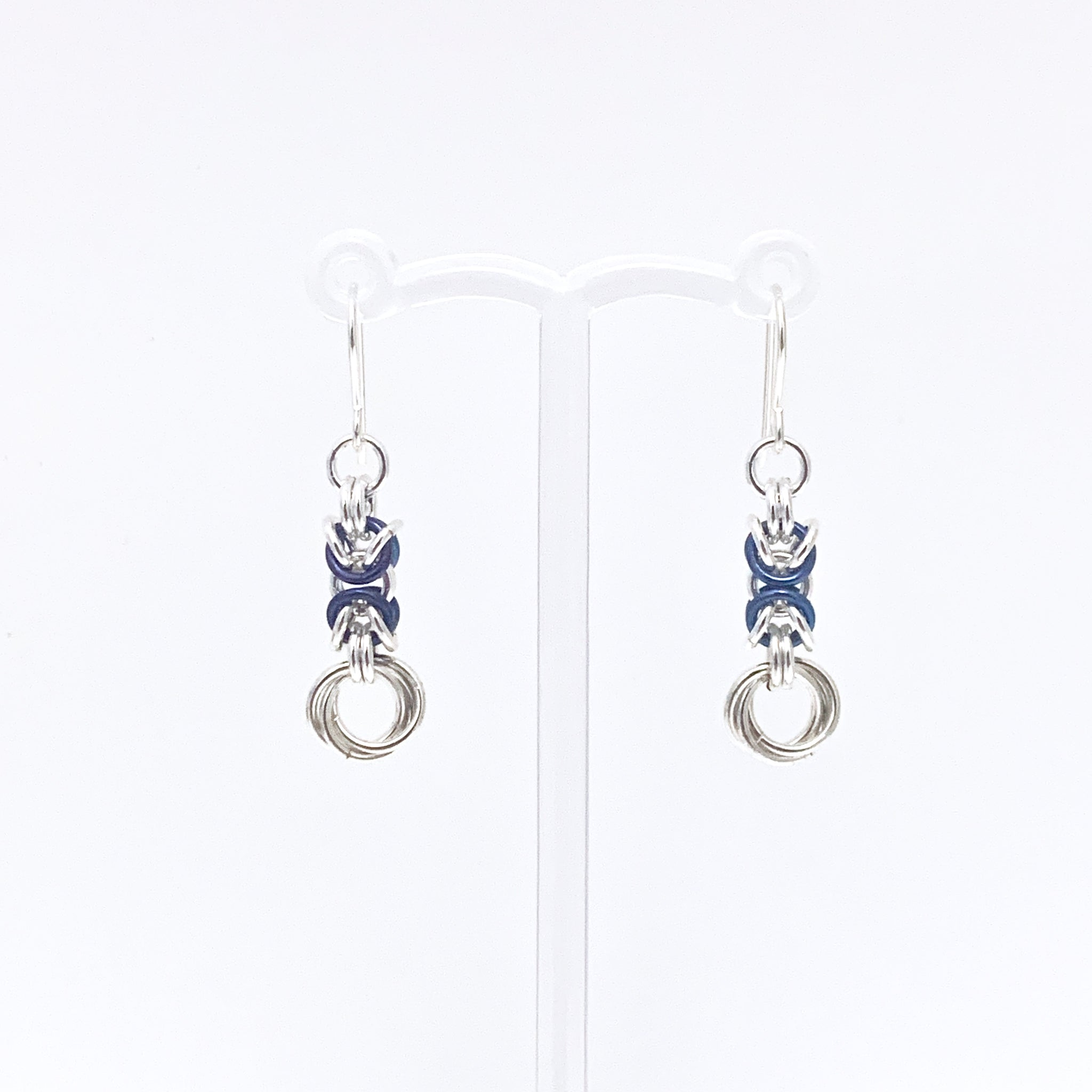 'Olivia' Dark Blue & Silver earrings (limited)