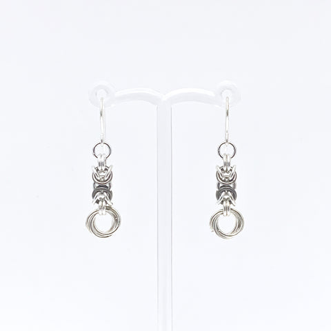 'Olivia' Fawn & Silver earrings (limited)