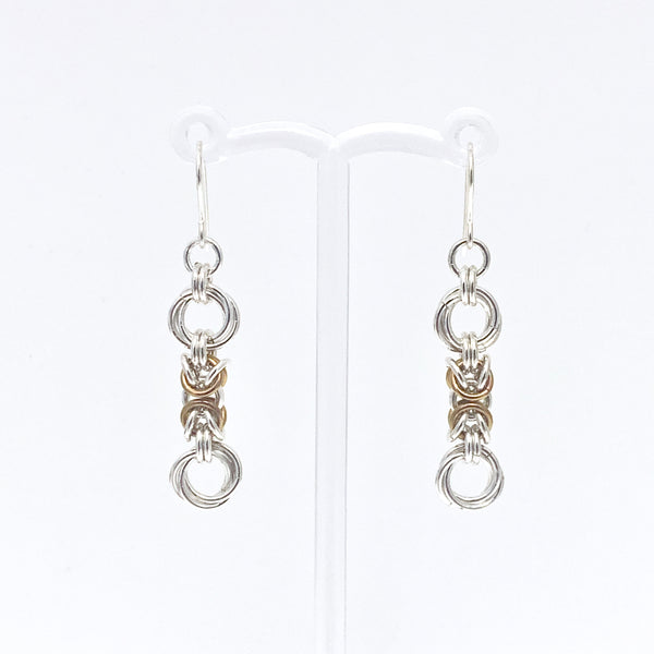 'Lilly' Mustard & Silver earrings (limited)