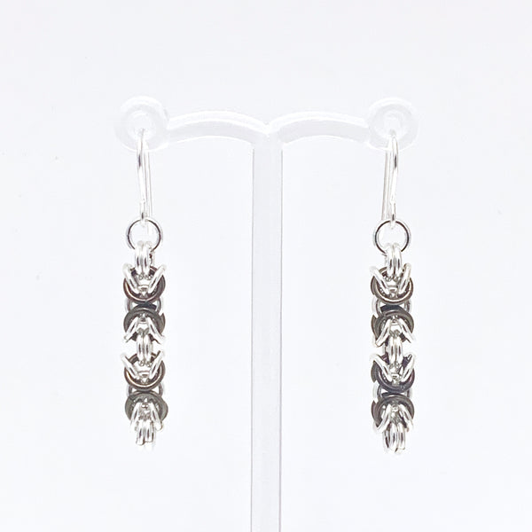 'Piper' Chocolate Brown & Silver earrings (limited)