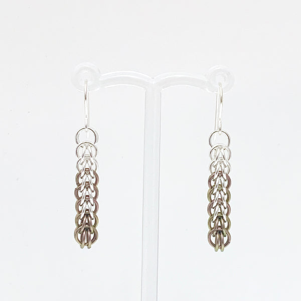 'Ivy' 7 Rhubarb & Silver earrings