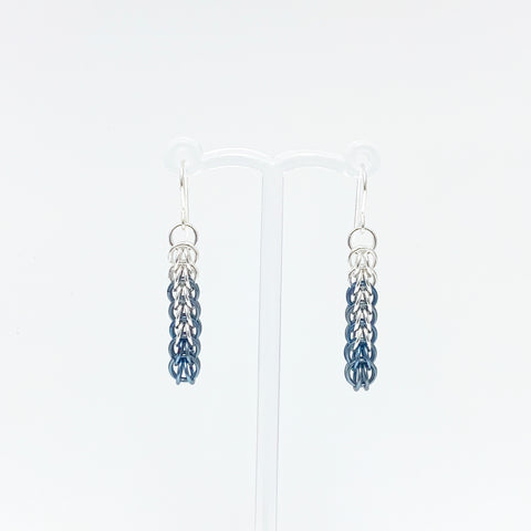 'Ivy' 7 Faded Jeans & Silver earrings