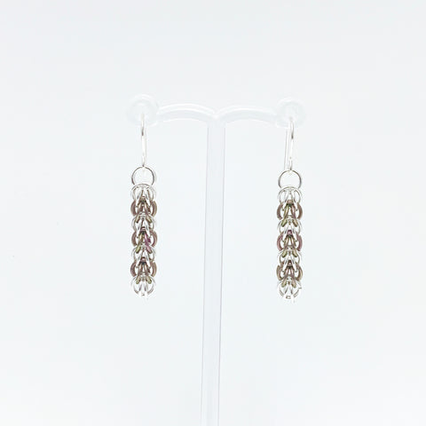 'Elle' 7 Rhubarb & Silver earrings