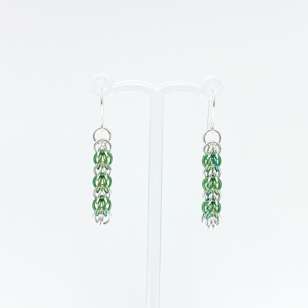 'Elle' 7 Lettuce & Silver earrings