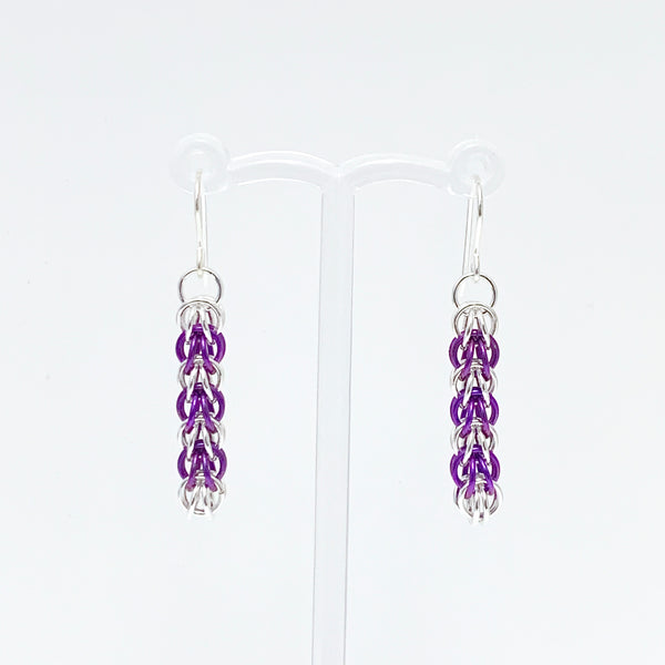 'Elle' 7 Plum & Silver earrings