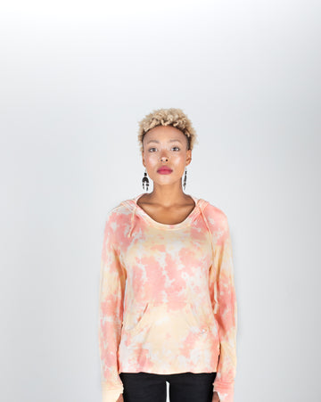 The Verb: Scoop Neck Tie-Dye Bamboo Hoodie