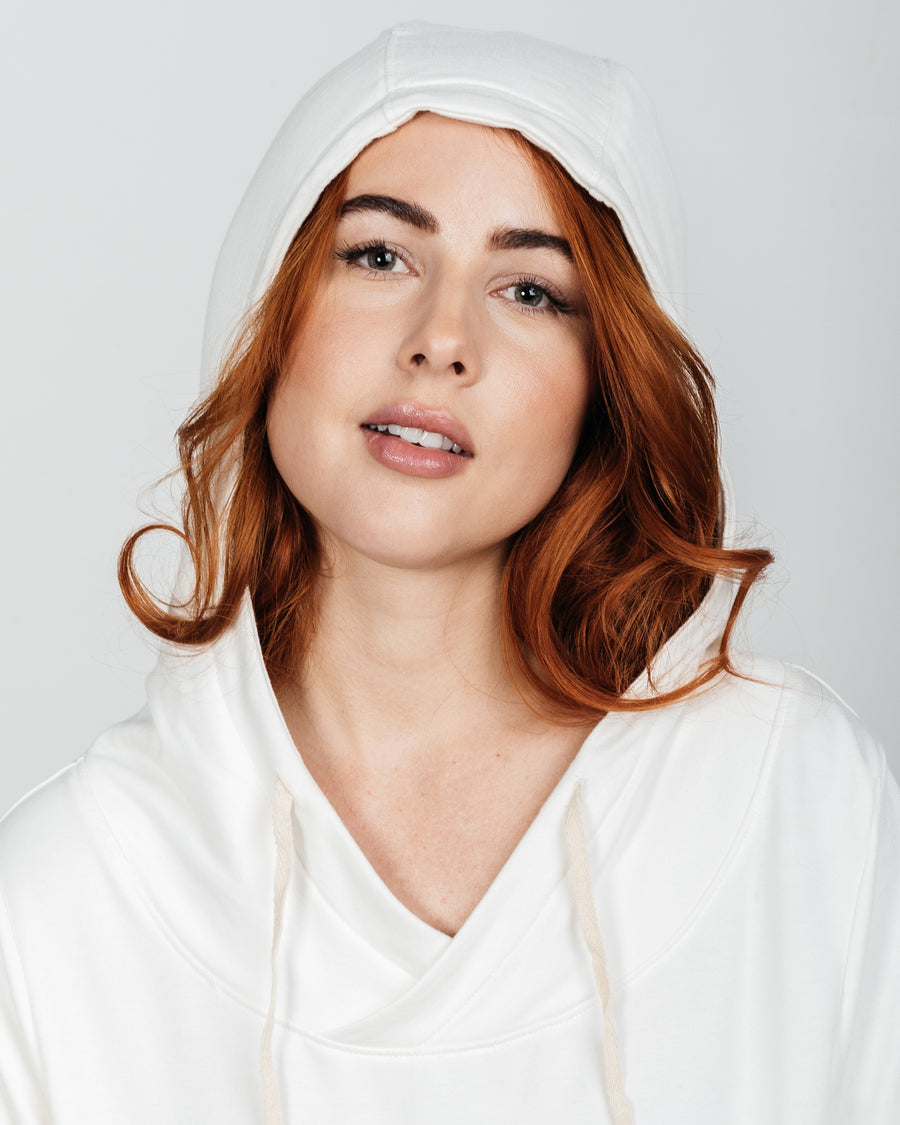 The Women's Venture Bamboo/Organic Cotton Hoodie - Off White