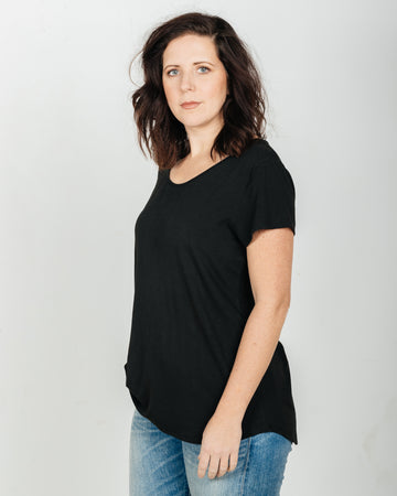 The Moon Black Bamboo Tee