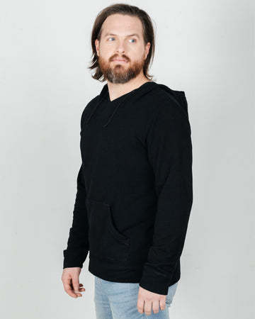 The Men's Venture Bamboo/Organic Cotton Hoodie -Black on Black