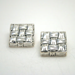Lauhala Square Earrings