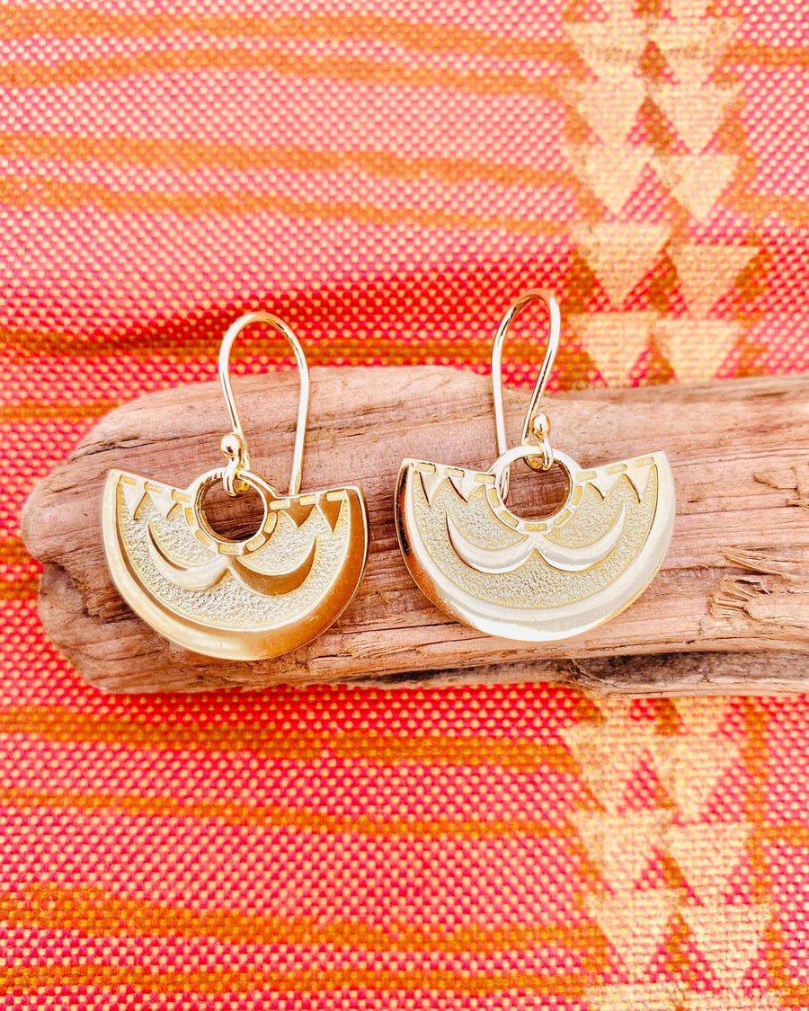 Kamehameha 'Ahu'ula Earrings Vermeil