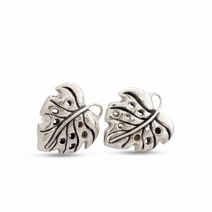 Monstera Earrings Small