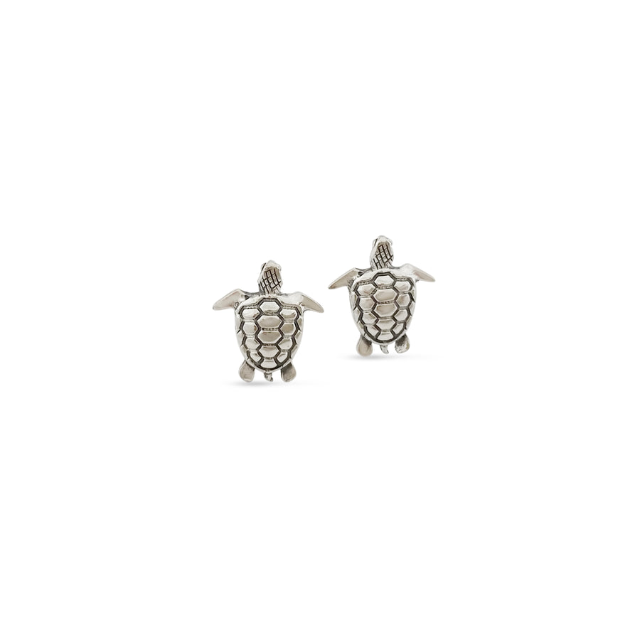 Mini Charm Turtle Earrings