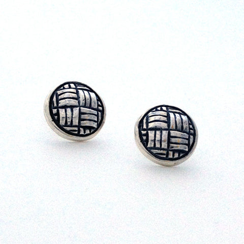 Lauhala Round Earrings
