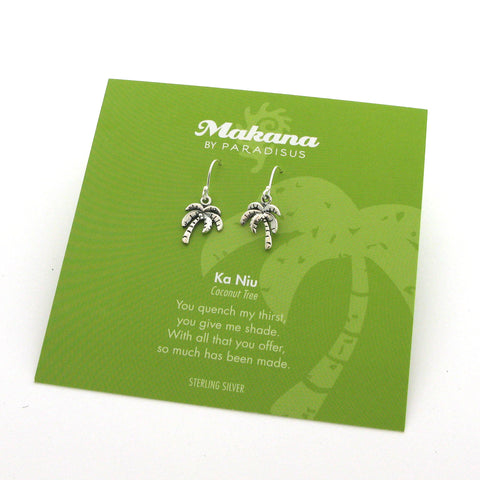 Mini Charm Coconut Tree Earrings