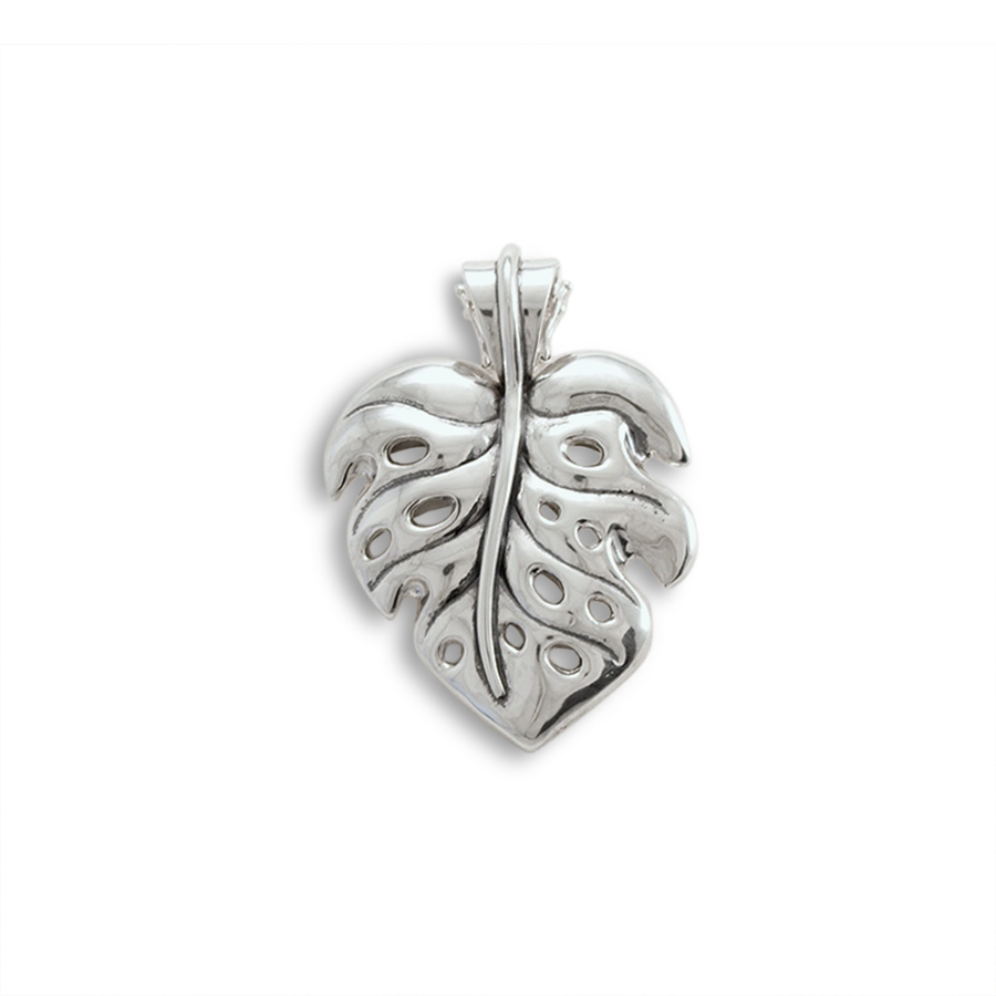 Monstera Pendant Large with removable clasp