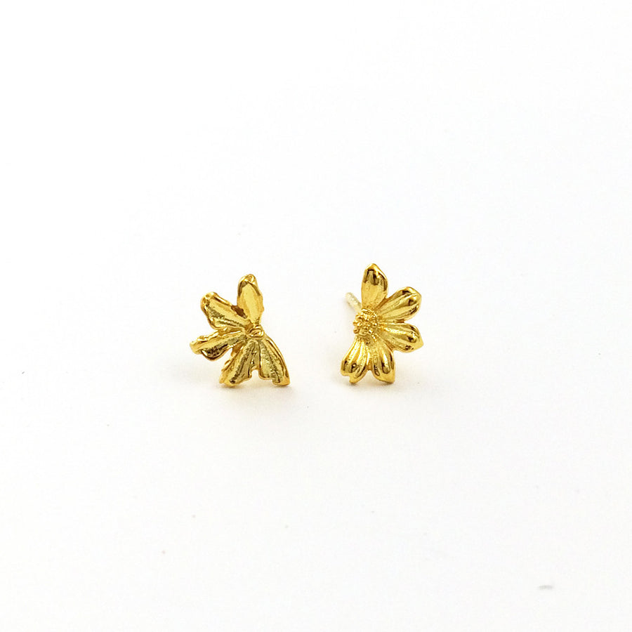 Naupaka Earrings - Vermeil